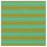 [ Thumbnail: Green & Sea Green Colored Pattern Fabric ]
