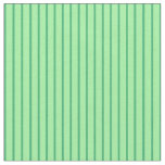 [ Thumbnail: Green & Sea Green Colored Striped Pattern Fabric ]