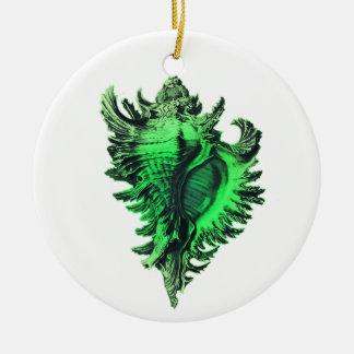 Green Sea Shell Ornament