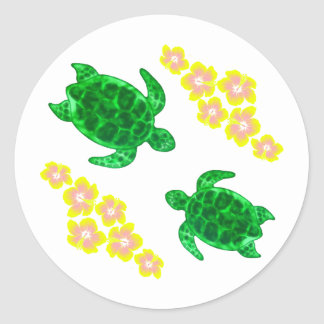 Green Sea Turltes Classic Round Sticker