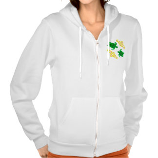 Green Sea Turltes Hooded Pullover