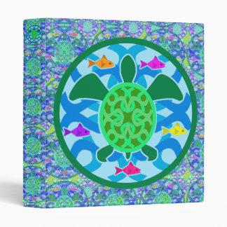 """Green Sea Turtle 1"""" Art Binder"""
