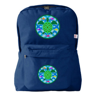 Green Sea Turtle American Apparel™ Backpack