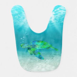 Green Sea Turtle Baby Bib