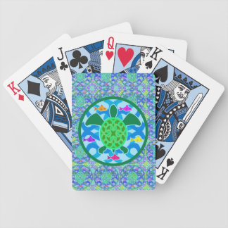 Green Sea Turtle Bicycle Playing Cards