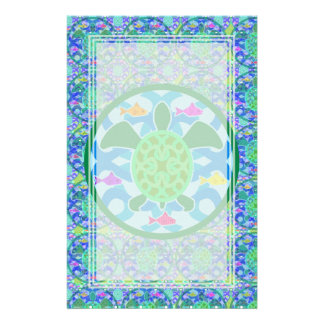 Green Sea Turtle Blank Stationery