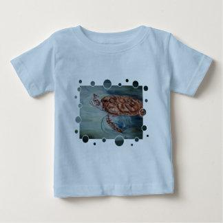 Green Sea Turtle bubbles Infant Tshirt