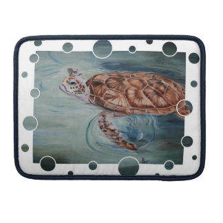 Green Sea Turtle Bubbles Sleeve For MacBooks