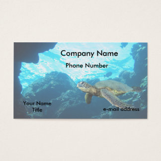 Green Sea Turtle Business Card