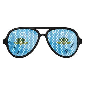 Green Sea Turtle Cartoon Aviator Sunglasses