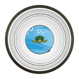 Green Sea Turtle Cartoon Bowl
