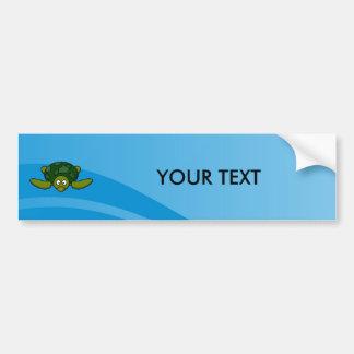 Green Sea Turtle Cartoon Bumper Sticker