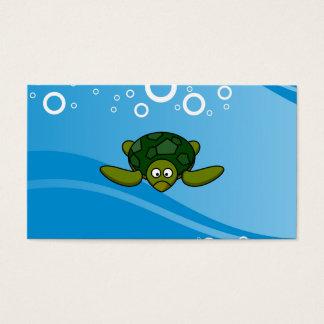 Green Sea Turtle Cartoon Business Card