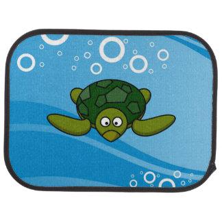 Green Sea Turtle Cartoon Car Mat