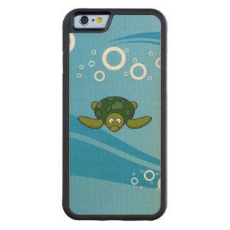 Green Sea Turtle Cartoon Carved® Maple iPhone 6 Bumper