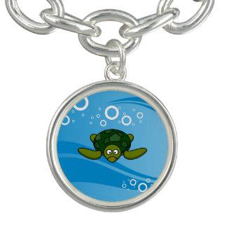 Green Sea Turtle Cartoon Charm Bracelets