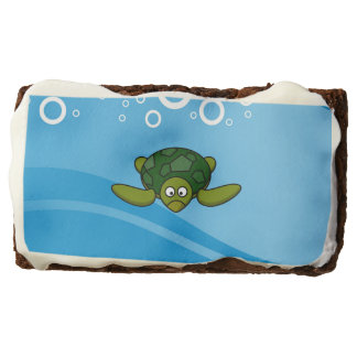 Green Sea Turtle Cartoon Chocolate Brownie