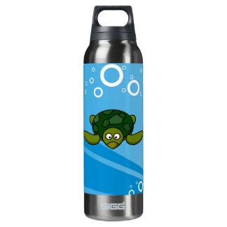 Green Sea Turtle Cartoon Insulated Water Bottle