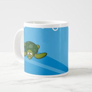 Green Sea Turtle Cartoon Large Coffee Mug