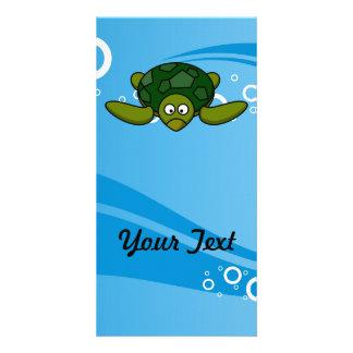 Green Sea Turtle Cartoon Photo Greeting Card