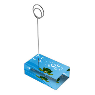 Green Sea Turtle Cartoon Place Card Holder