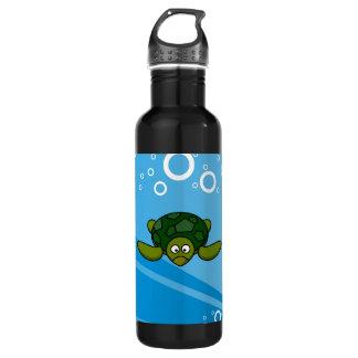 Green Sea Turtle Cartoon Stainless Steel Water Bottle
