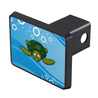 Green Sea Turtle Cartoon Trailer Hitch Cover