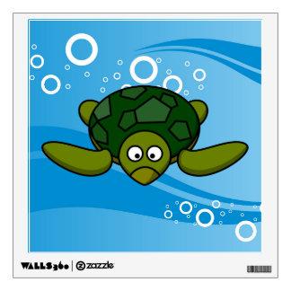 Green Sea Turtle Cartoon Wall Decal