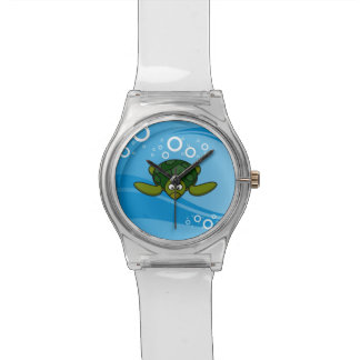 Green Sea Turtle Cartoon Wrist Watch