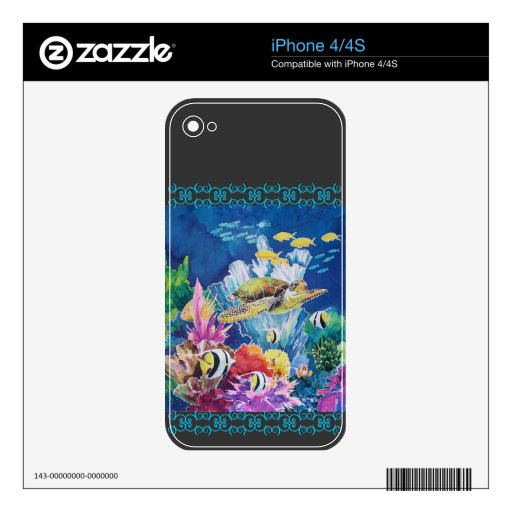 Green Sea Turtle Decal For The iPhone 4