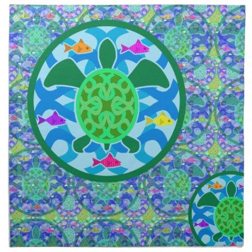Green Sea Turtle Dinner Napkins