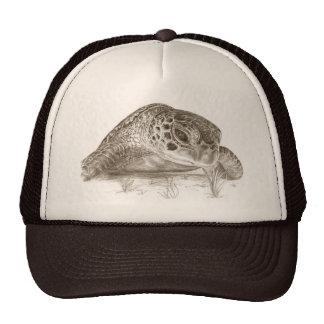 Green Sea Turtle Drawing Trucker Hat