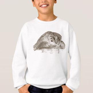 Green Sea Turtle Drawing Sweatshirt
