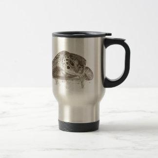 Green Sea Turtle Drawing Travel Mug