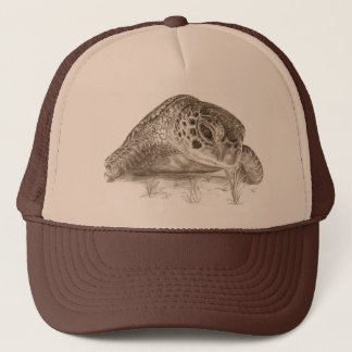 Green Sea Turtle Drawing Trucker Hat