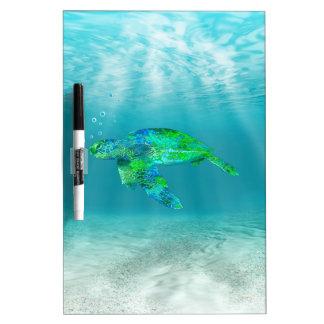 Green Sea Turtle Dry Erase Board