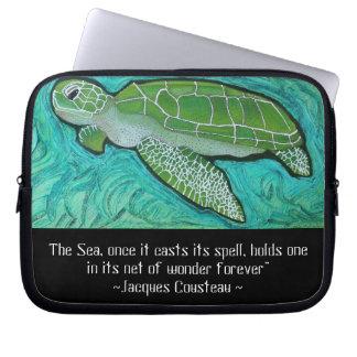 Green Sea Turtle Electronics Sleeve Laptop Computer Sleeve