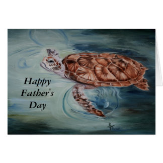 Green Sea Turtle Father's Day Card