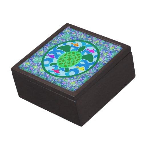 Green Sea Turtle Gift Box Premium Jewelry Box