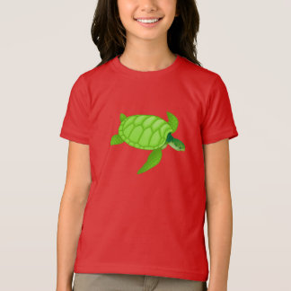 Green Sea Turtle Girls T-Shirt