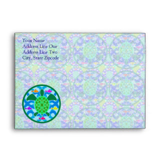 Green Sea Turtle Greeting Card Envelope