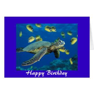 Green Sea Turtle, Happy Birthday Card