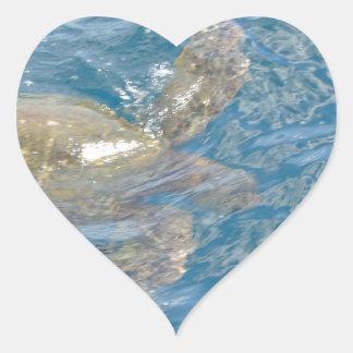 Green Sea Turtle - Hawaii Honu Heart Sticker