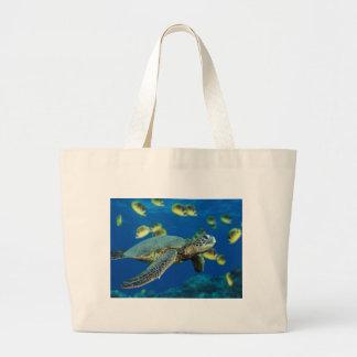 Green Sea Turtle Jumbo Tote Bag