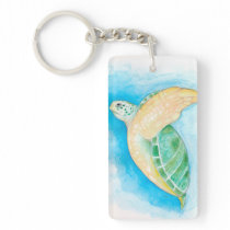 Green Sea Turtle Keychain
