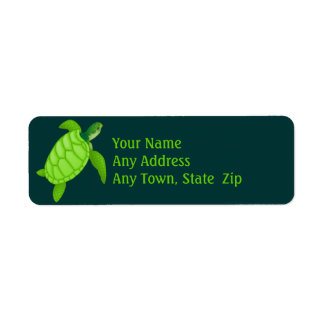 Green Sea Turtle Label