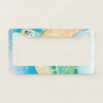 Green Sea Turtle License Plate Frame