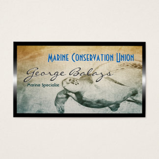 Green Sea Turtle / Marine Resource Conservation Business Card