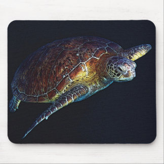 Green Sea Turtle on the Great Barrier Reef Mouse Pad