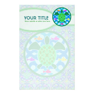 Green Sea Turtle Personalized Stationery